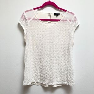 The Limited white eyelet top size L // F29